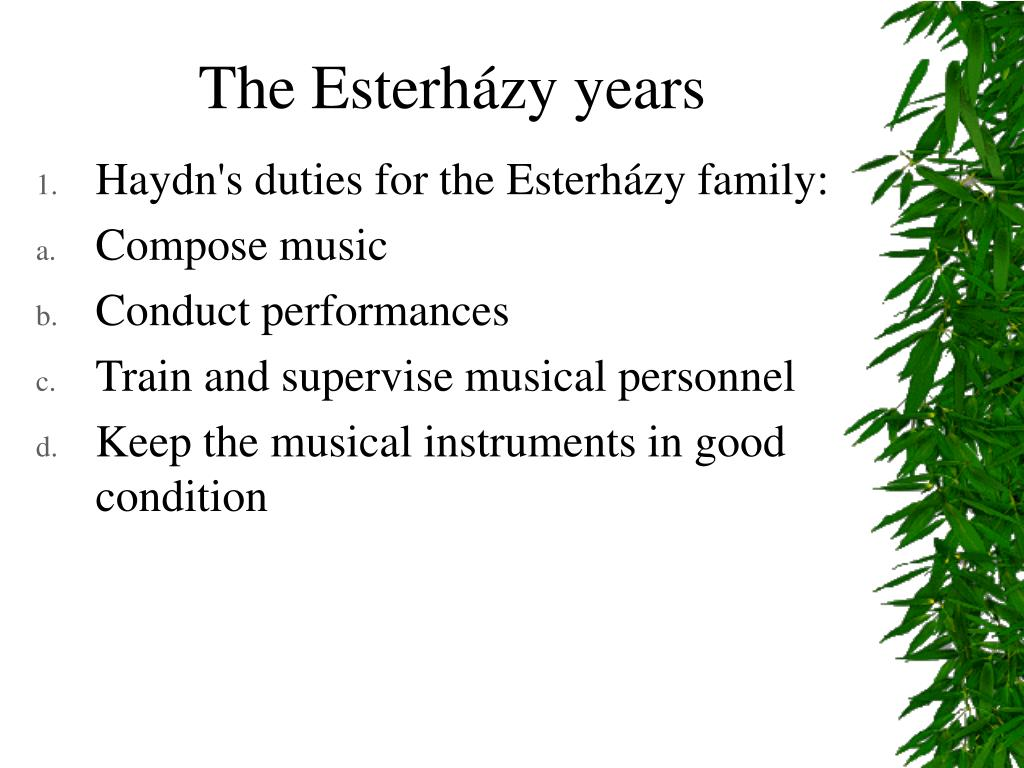 The Esterházy years
