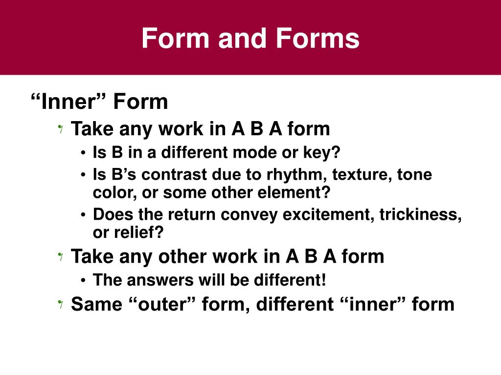 Form and Forms