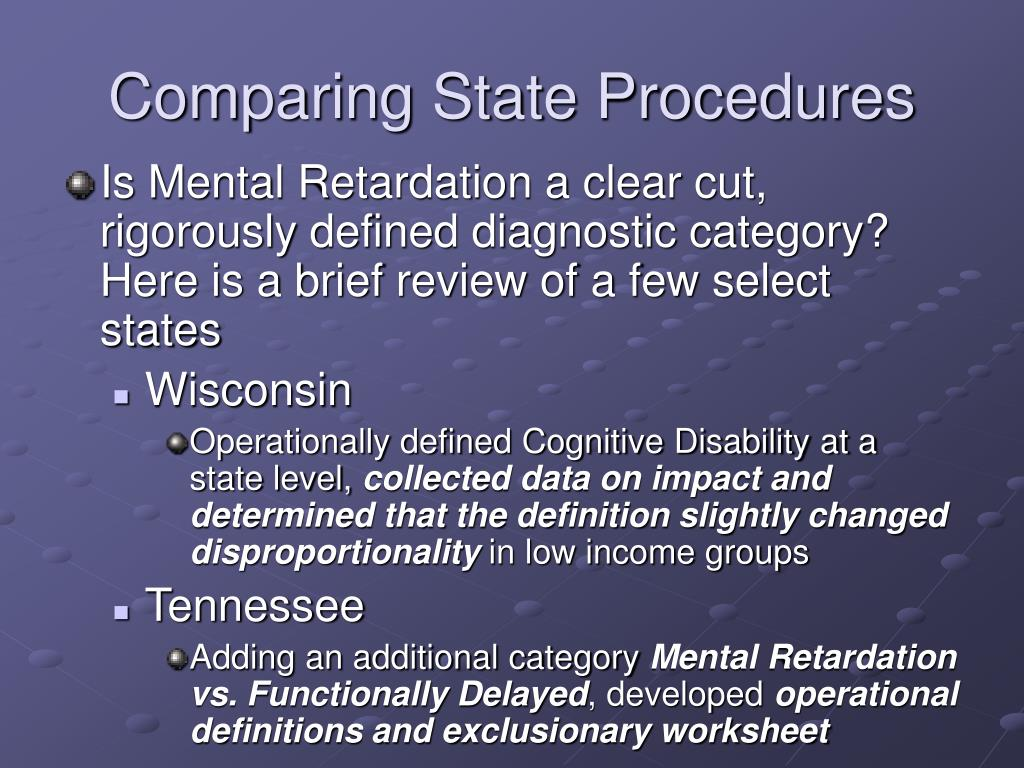 Comparing State Procedures