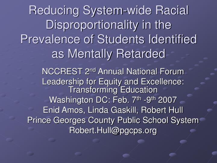 Reducing System-wide Racial Disproportionality in the
