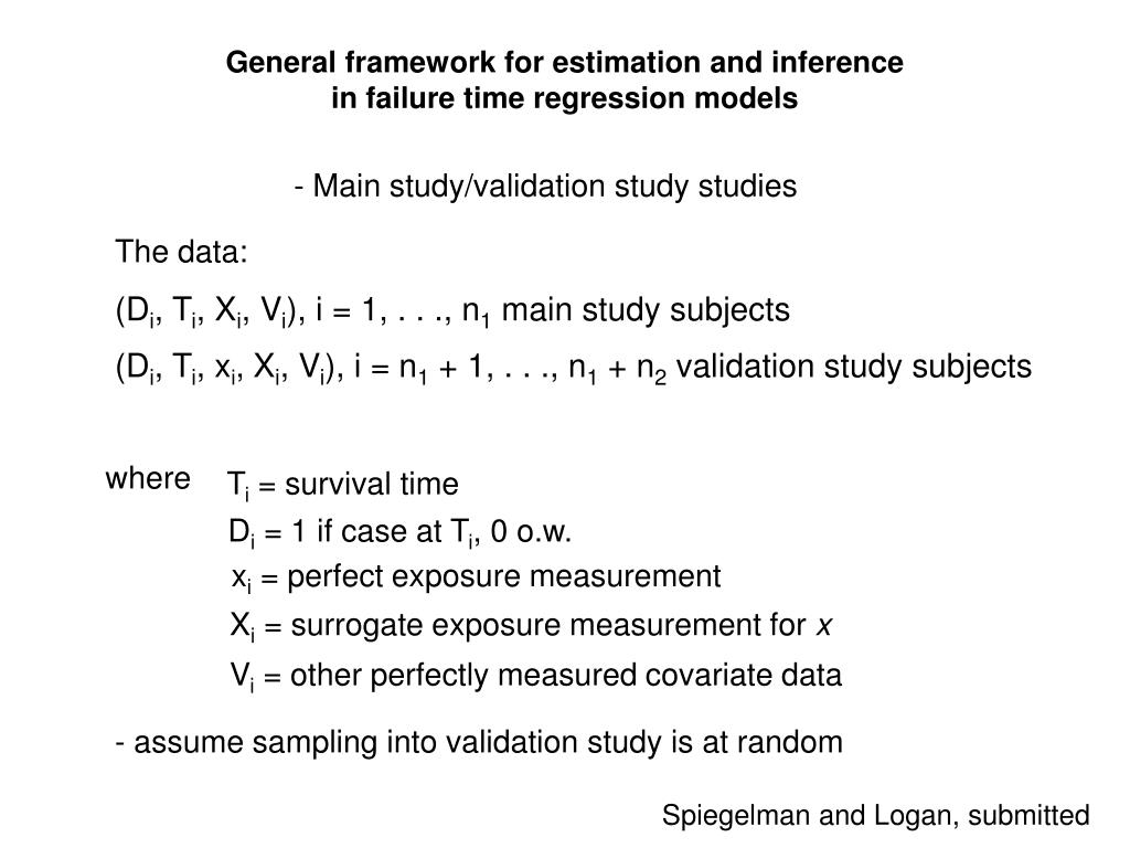 General framework for estimation and inference in failure time regression models