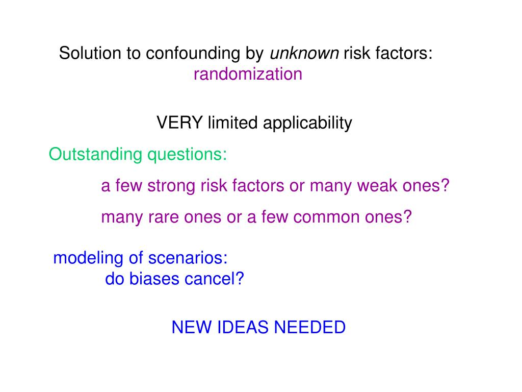 Solution to confounding by