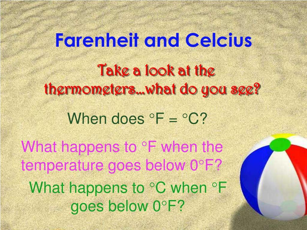 Farenheit and Celcius