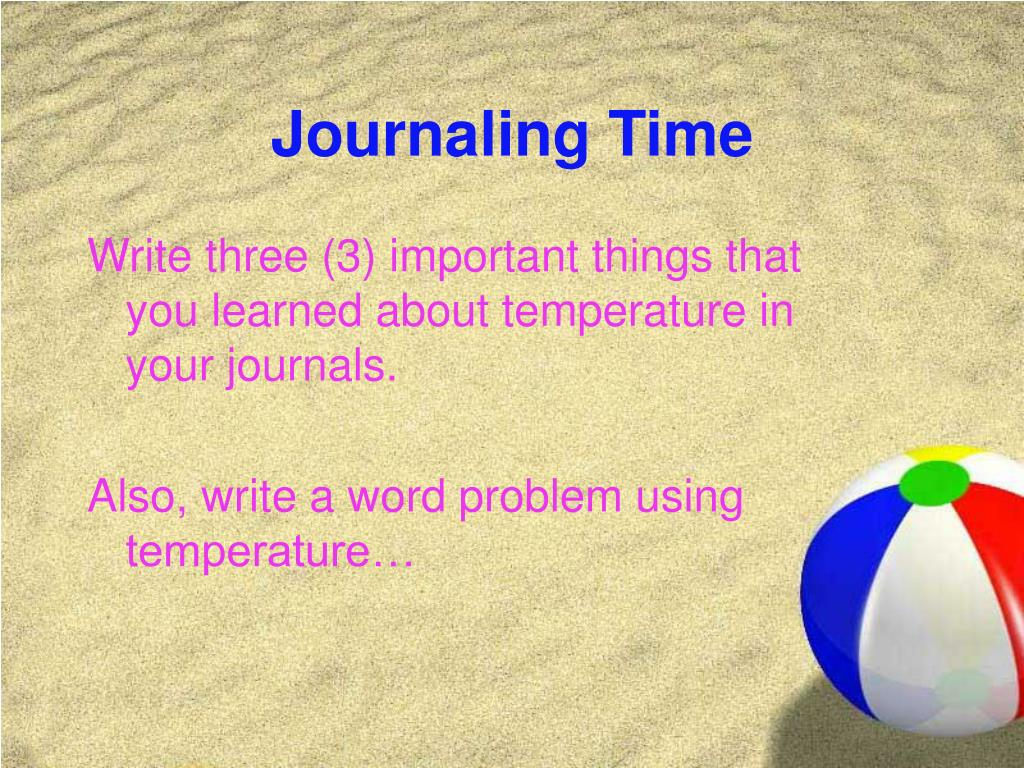 Journaling Time