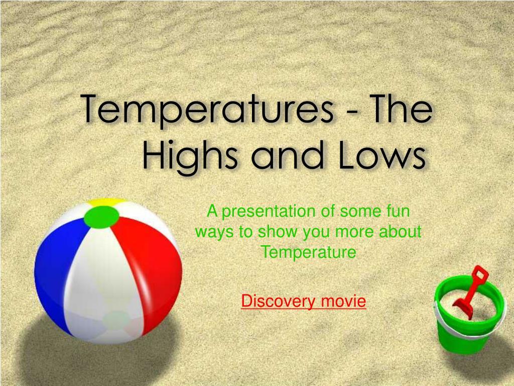 Temperatures - The