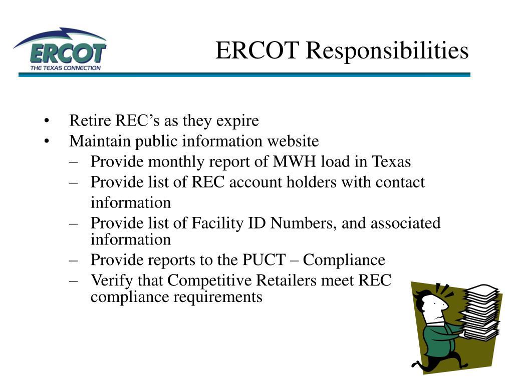 ERCOT Responsibilities