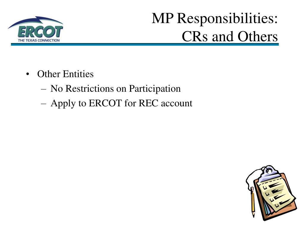 MP Responsibilities:
