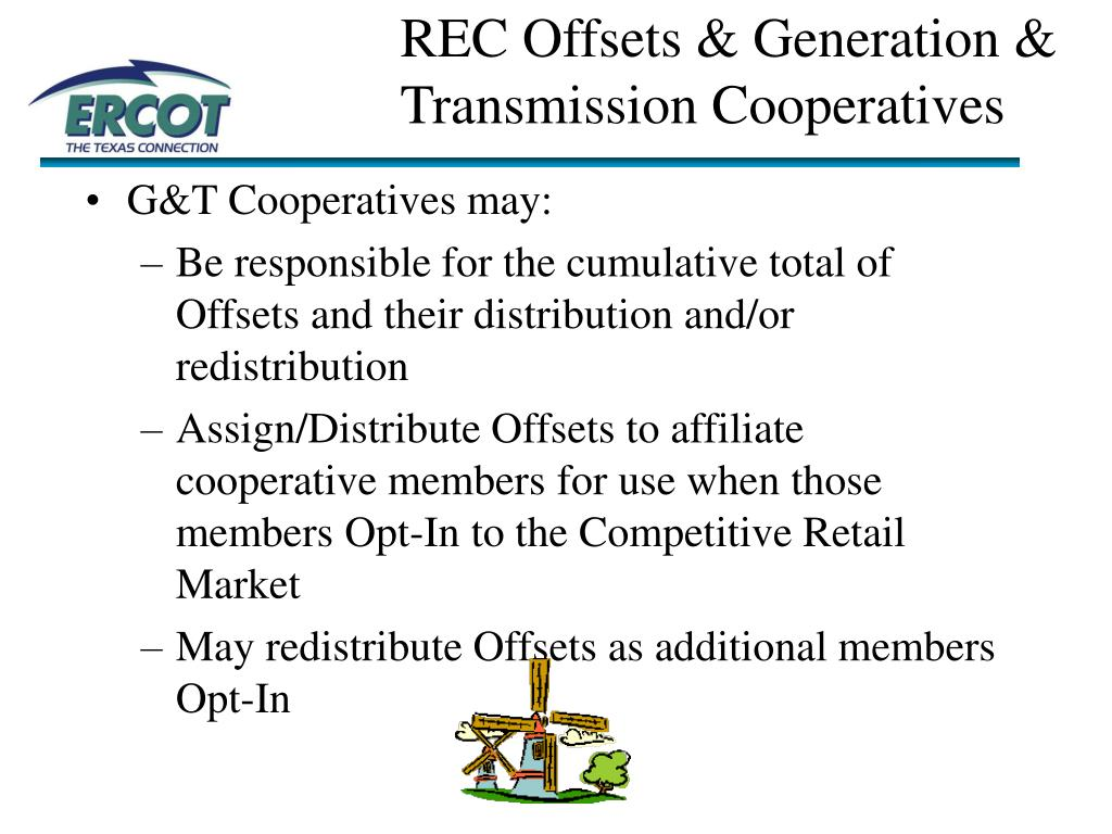 REC Offsets & Generation & Transmission Cooperatives