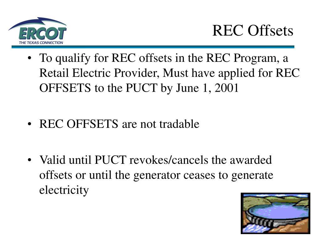 REC Offsets