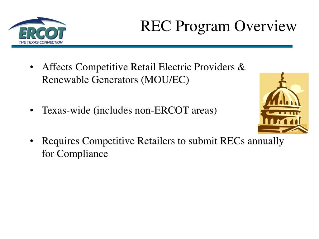 REC Program Overview
