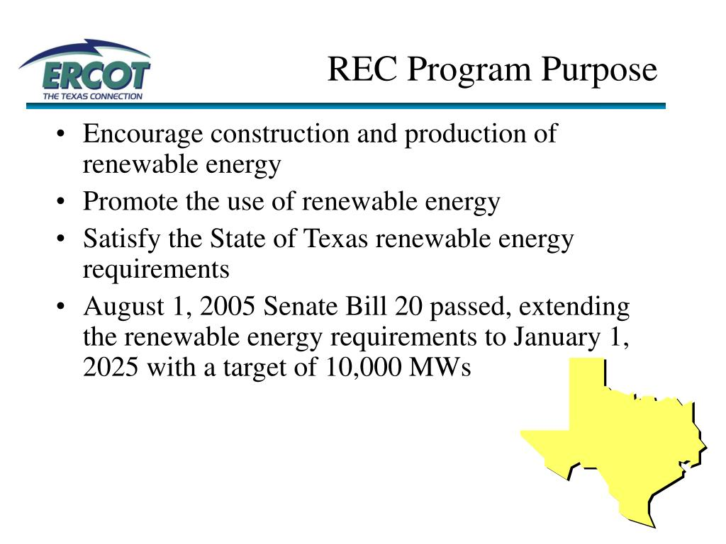 REC Program Purpose
