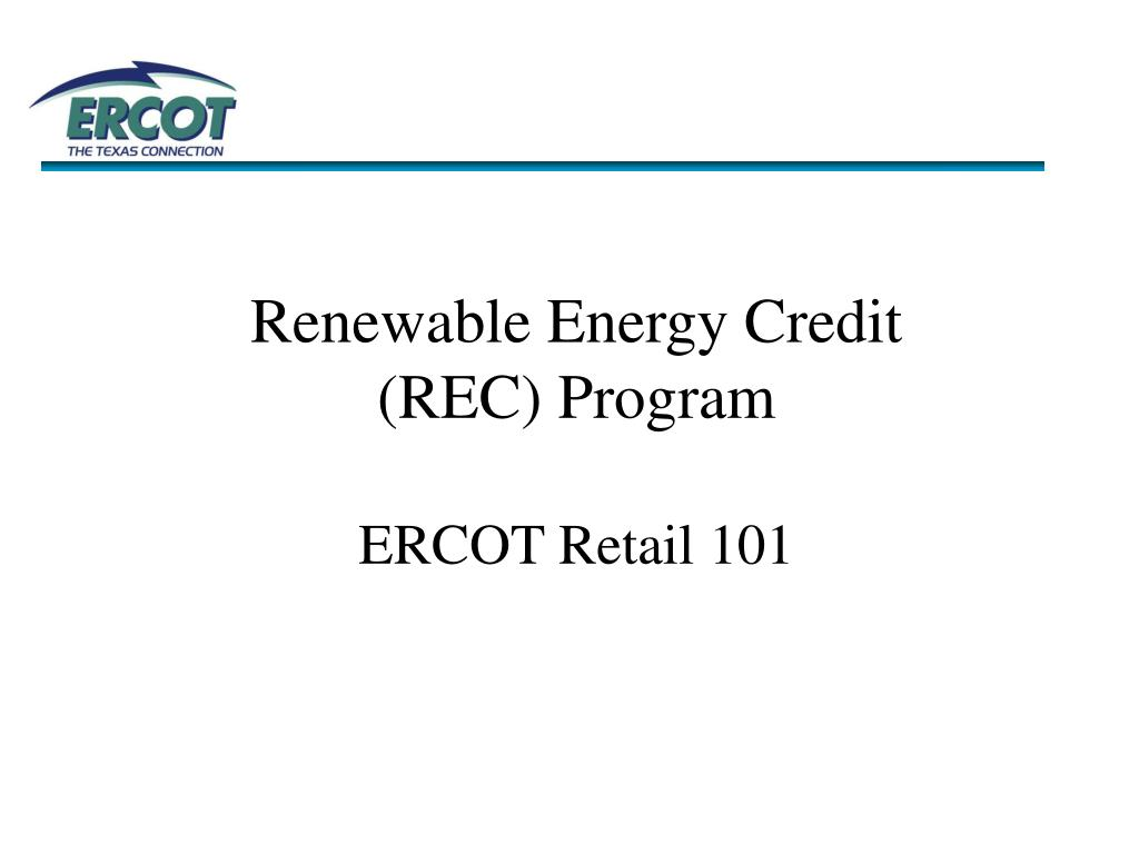 Renewable Energy Credit