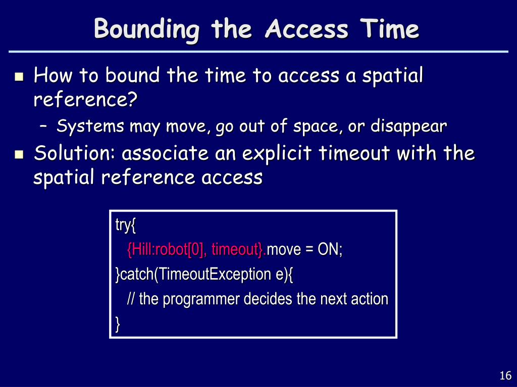 Bounding the Access Time