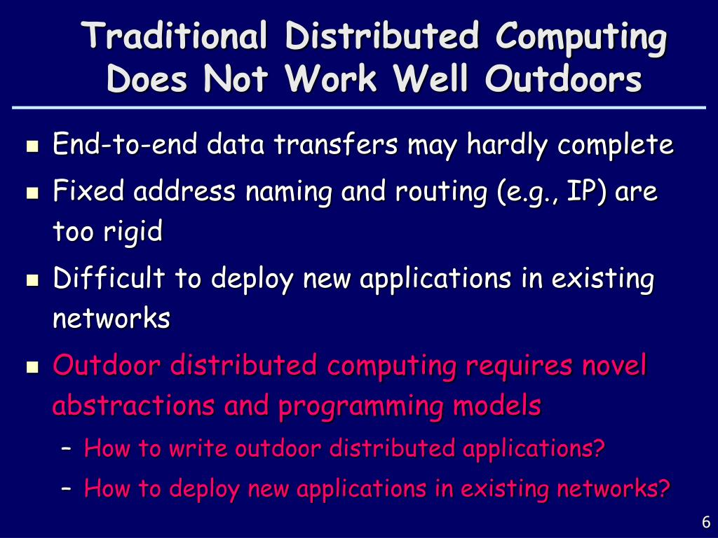 Traditional Distributed Computing