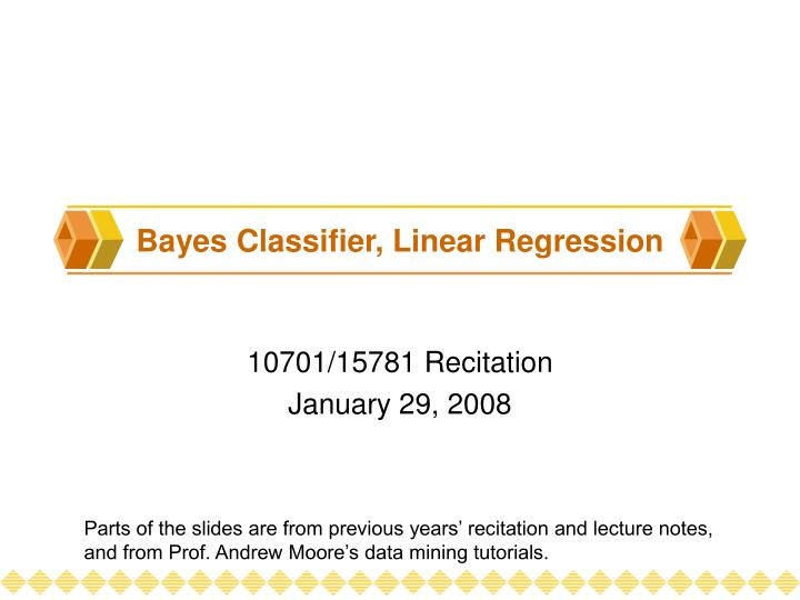 Bayes classifier linear regression l.jpg
