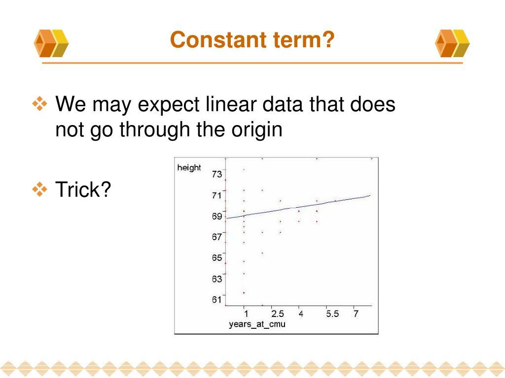 Constant term?