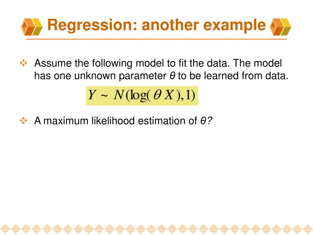 Regression: another e