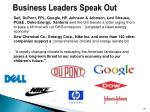 business leaders speak out34