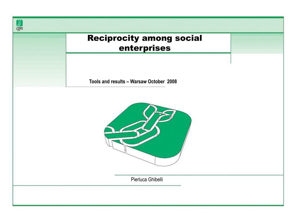 Reciprocity among social enterprises