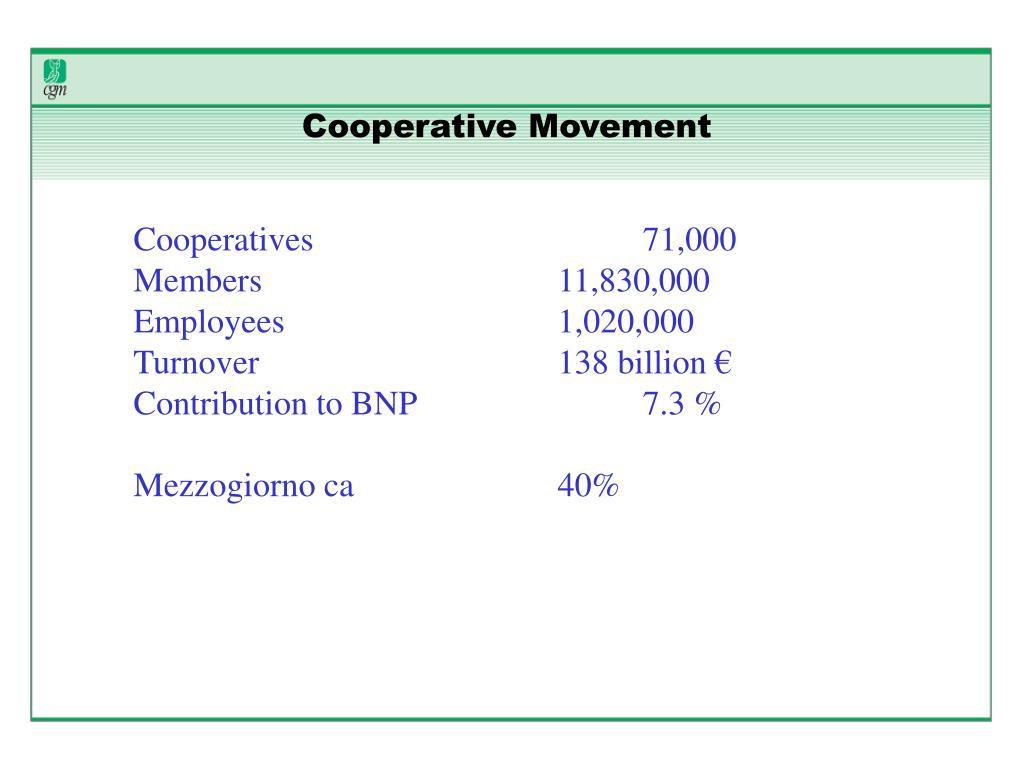 Cooperative Movement