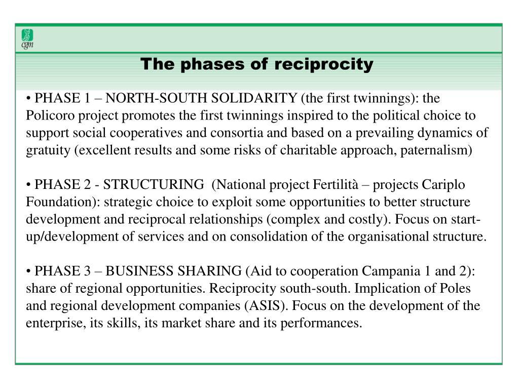 The phases of reciprocity