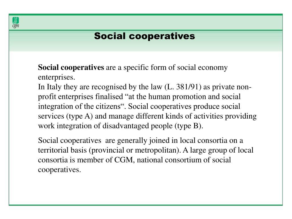 Social cooperatives