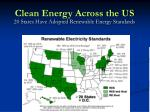 20 states have adopted renewable energy standards