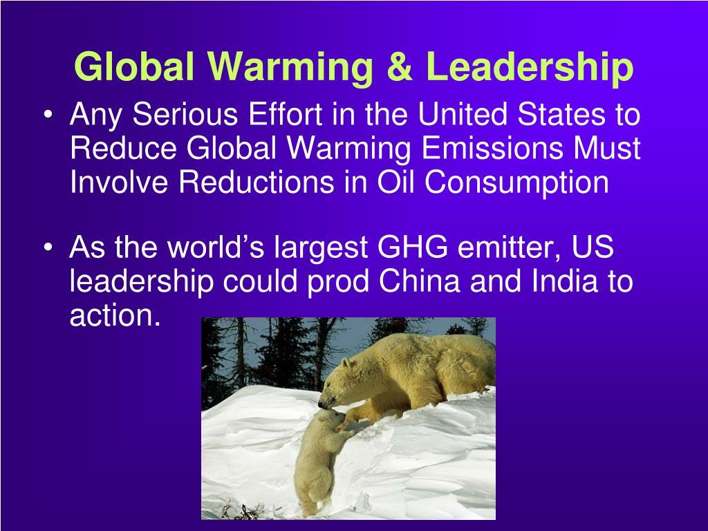 Global Warming & Leadership