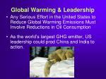 global warming leadership