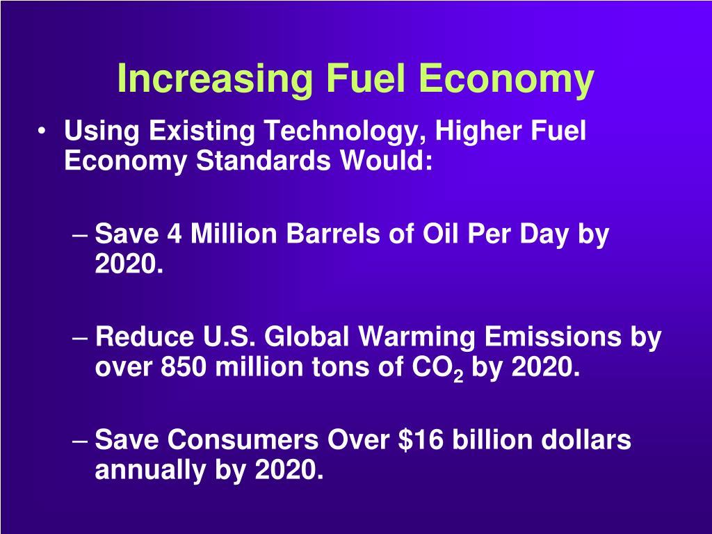 Increasing Fuel Economy