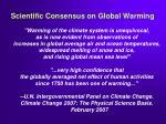 scientific consensus on global warming