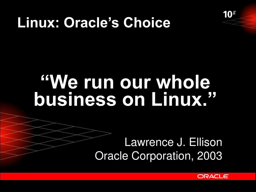 Linux: Oracle's Choice