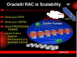 oracle9 i rac is scalability23