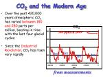 co 2 and the modern age