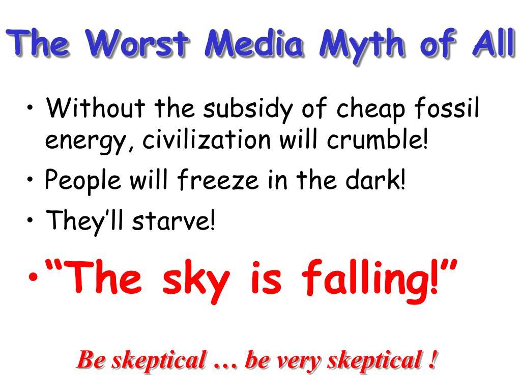 The Worst Media Myth of All