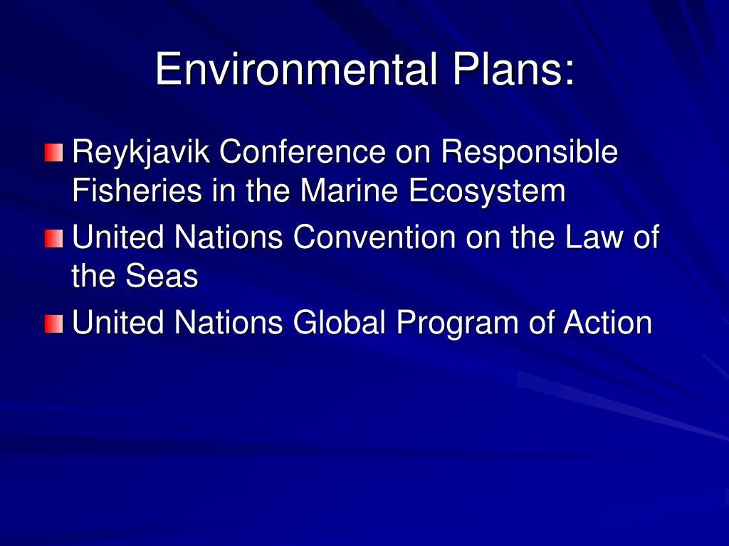 Environmental Plans: