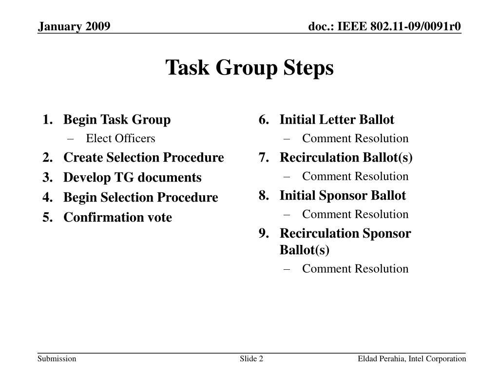 Begin Task Group