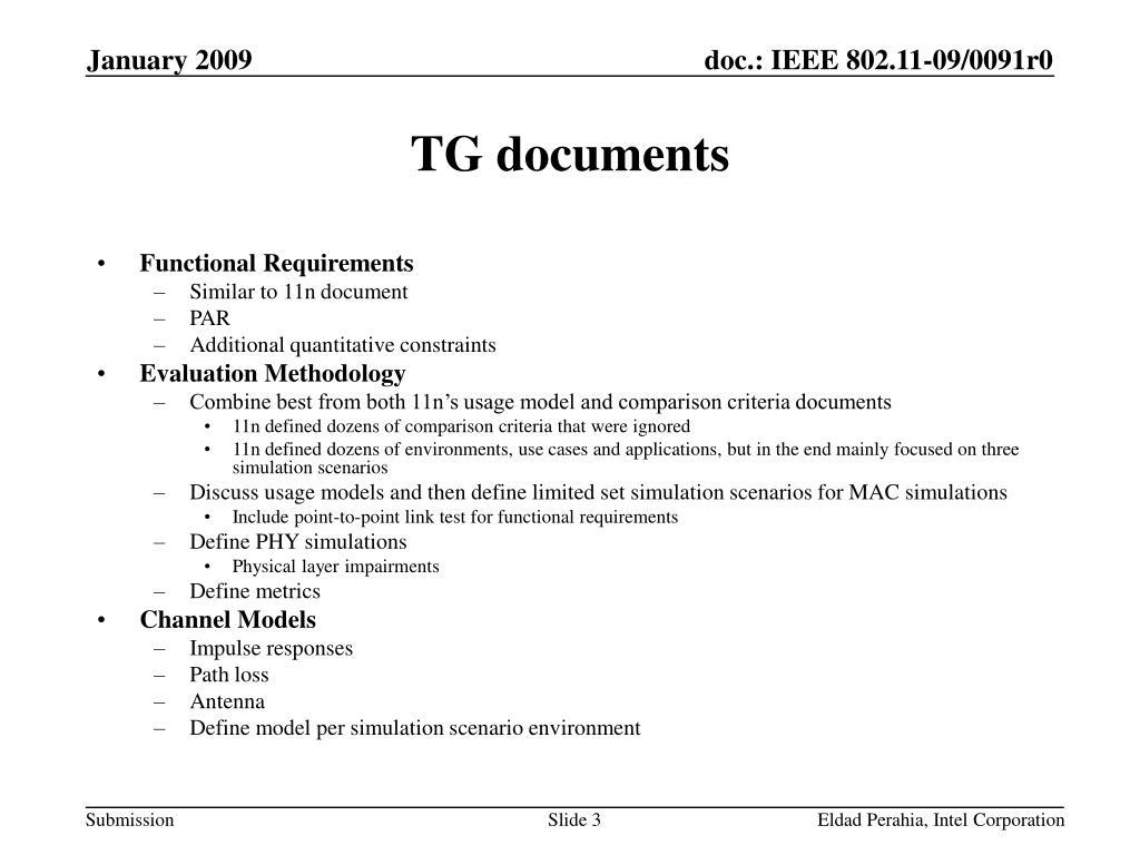TG documents