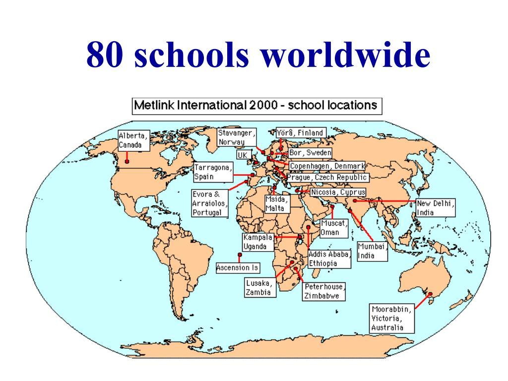 80 schools worldwide