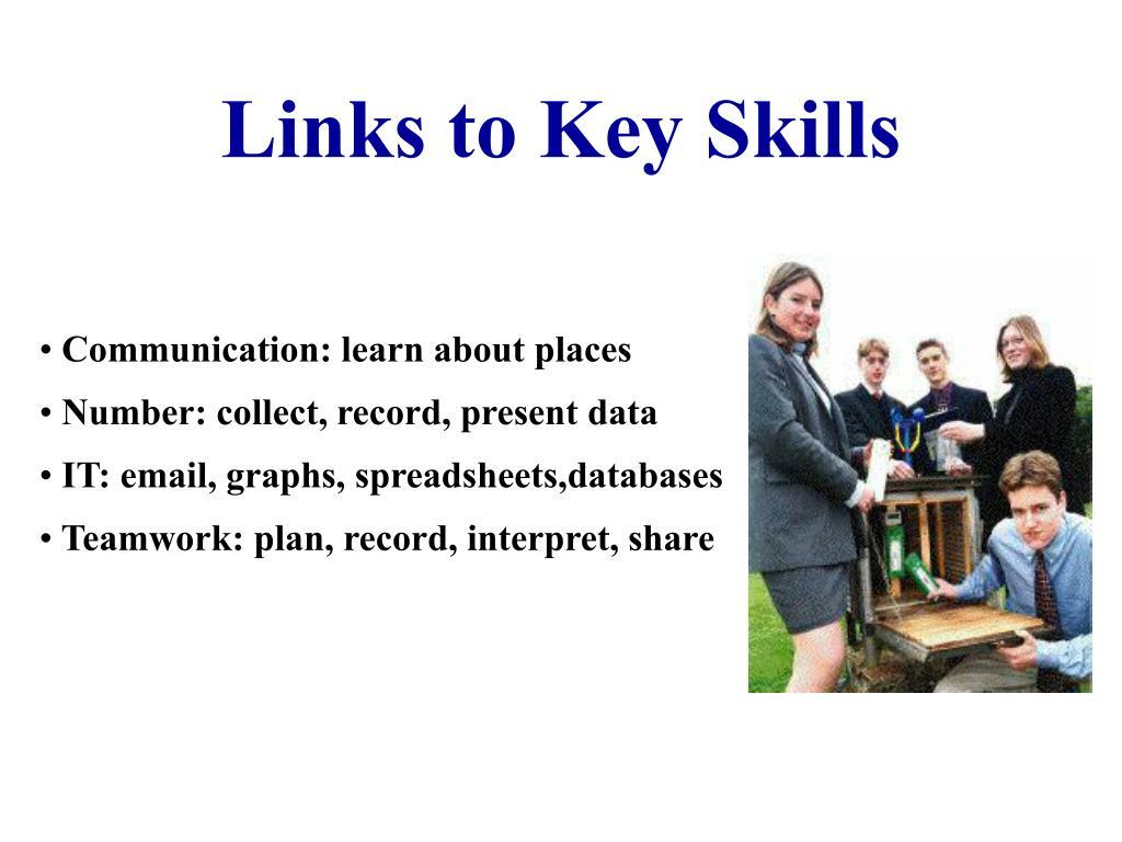 Links to Key Skills
