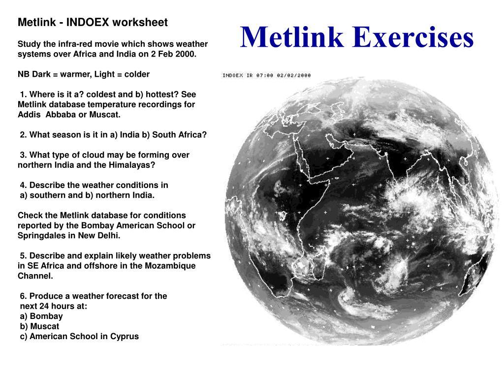Metlink - INDOEX worksheet
