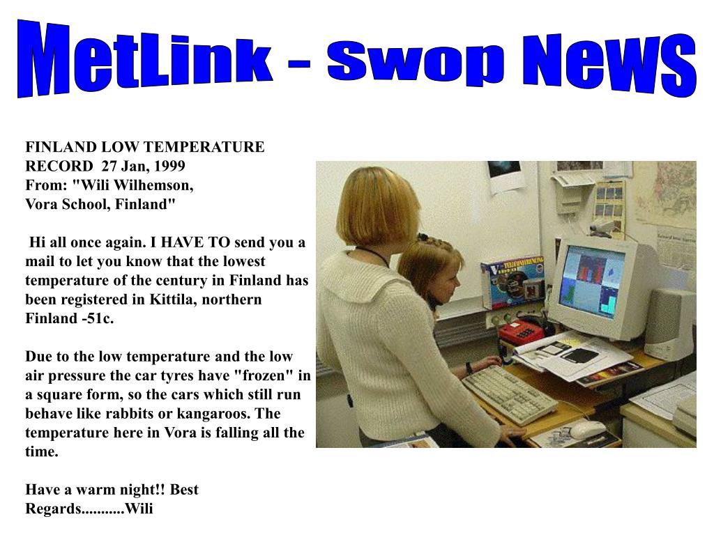 MetLink - Swop News