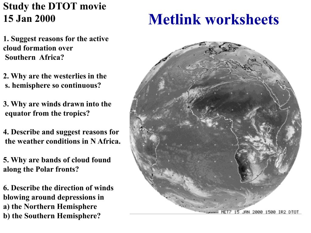 Metlink worksheets