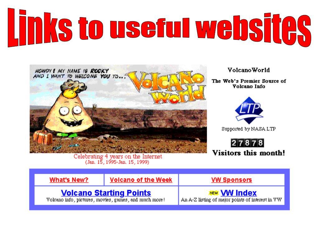 Links to useful websites