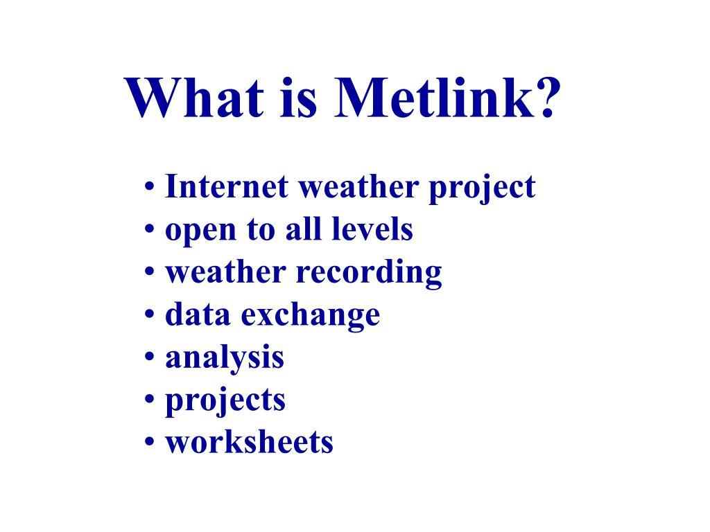 What is Metlink?