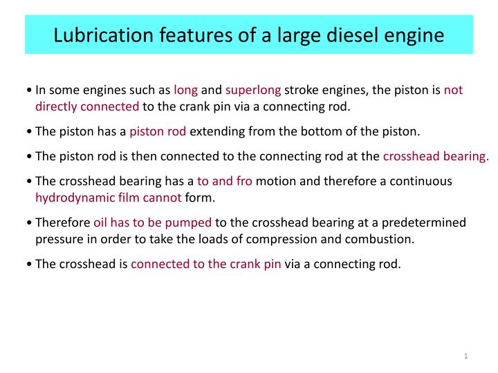 Lubrication features of a large diesel engine l.jpg