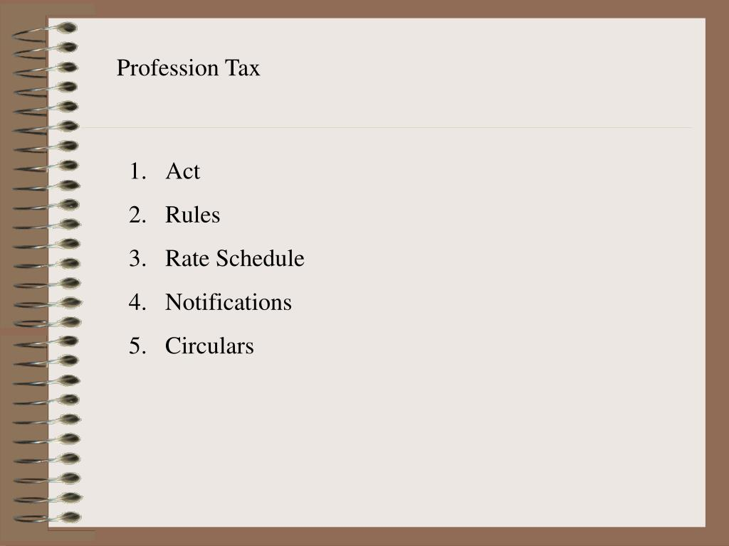 Profession Tax
