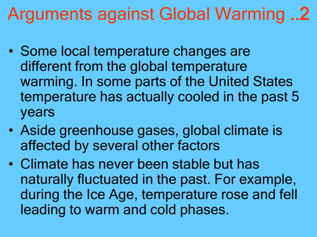 Arguments against Global Warming
