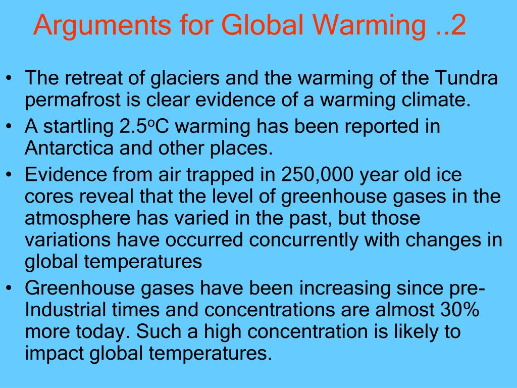Arguments for Global Warming ..2