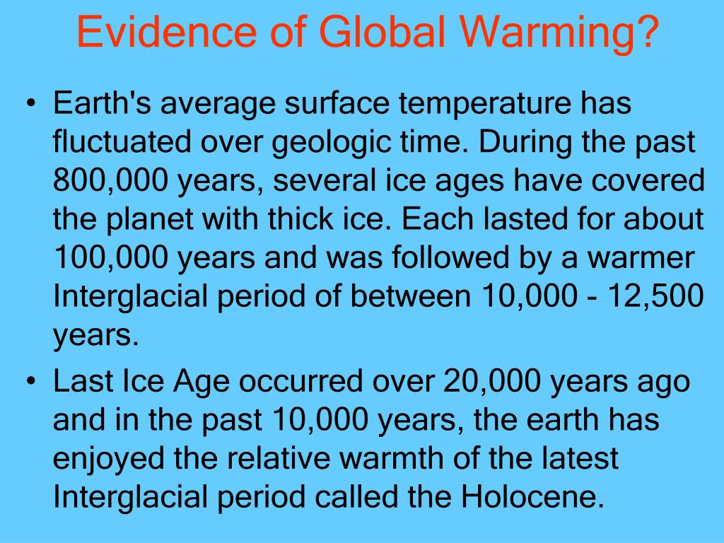 Evidence of Global Warming?